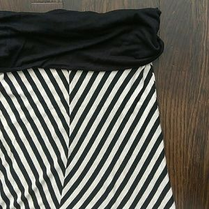 Body Central black striped maxi skirt size large